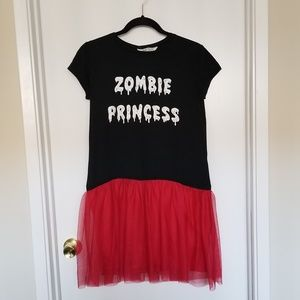 H&M Zombie Princess Tee With Attached Tutu
